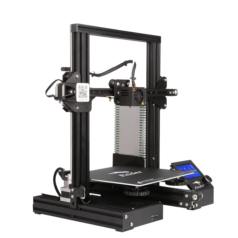 Kit de impresora Creality Ender 3 de escritorio 3D impresora Prusa I3 DIY 220x220x250mm MK8 extrusora 1,75mm 0,4mm boquilla de impresión - 2