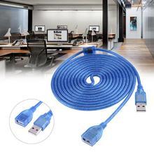 3 метра Длина USB2.0 Порты и разъёмы Медь Core удлинитель USB кабель периферийное устройство компьютера Удлинительный шнур USB с Экранирование магнит кольцо