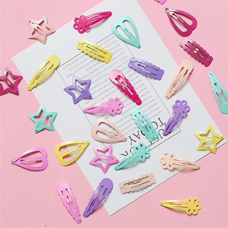 BalleenShiny 6 шт. разноцветный яркие заколки для волос девчачье розовое любовь, сердце, звезды для маленьких девочек головные уборы женские аксессуары и клипсы для волос в подарок