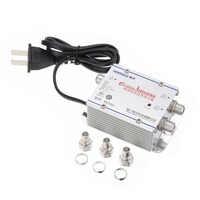 220V 2 Way CATV Cable TV Signal Amplifier 45-860 MHz AMP Antenna Booster  Splitter Set Broadband Home TV Equipment