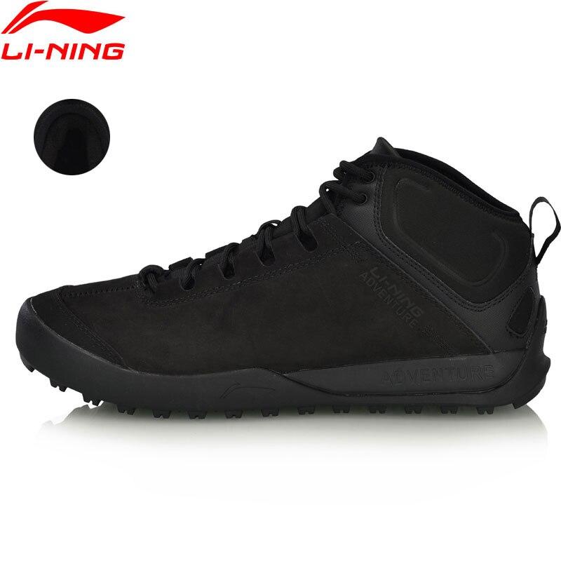 Li-Ning Hommes TIGRE II En Plein Air Loisirs Chaussures Chaud Polaire Anti-glissement Doublure Durable Sport Chaussures de Marche Sneakers AHCN013 YXB247