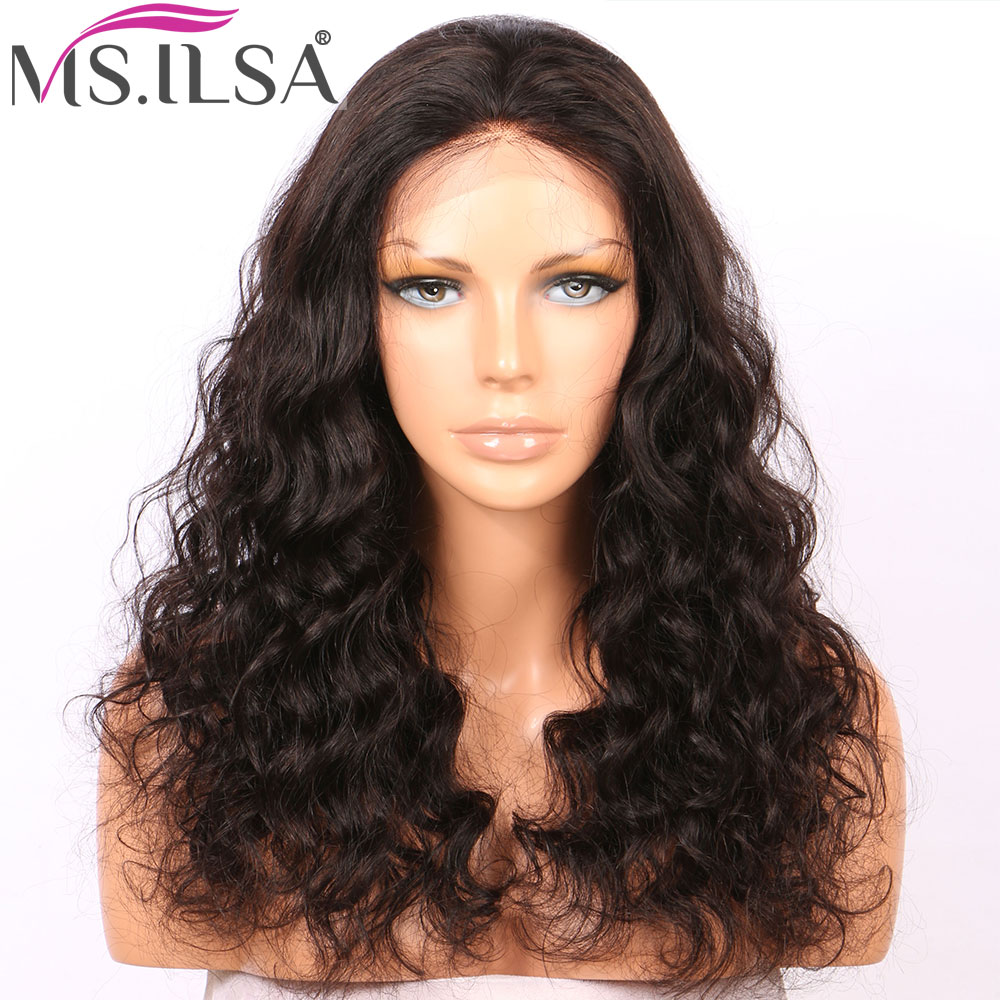 Lace Wigs Lace Front Human Hair Wigs For Black Women Light Yaki Straight Remy Hair 250 Density Lace Wig With Baby Hair Pre Plucked Ms.ilsa Latest Technology