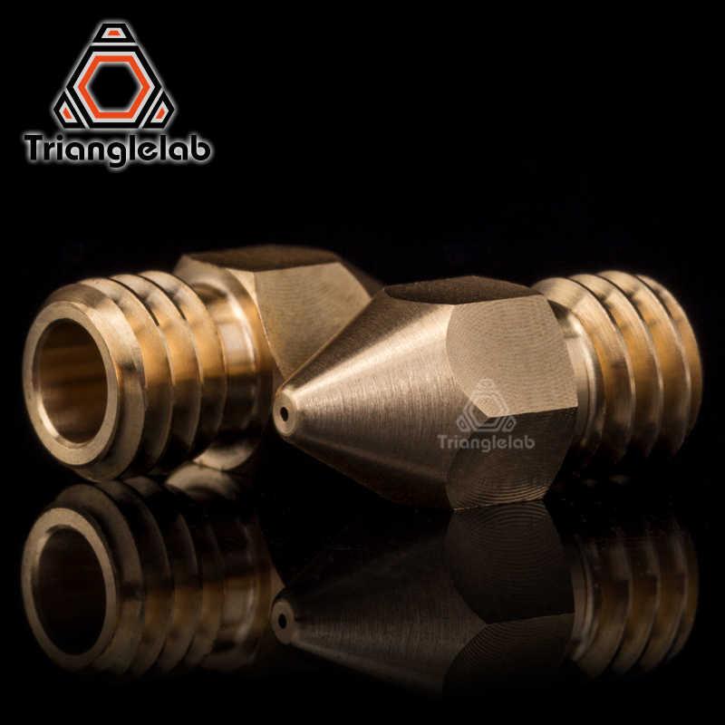 Trianglelab Kualitas Super Tinggi Zortrax Kuningan Nozzle untuk Hotend Kit Zortrax M200 M300 3D Printer 1.75 Mm Ulir Sekrup M6 extruder