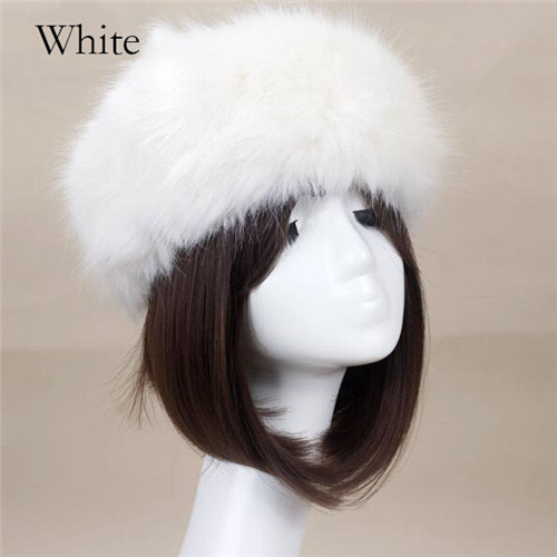 Fashion Ski Head Bands Winter Raccoon Cap Faux Fox Fur Ear Flap Russian Hat