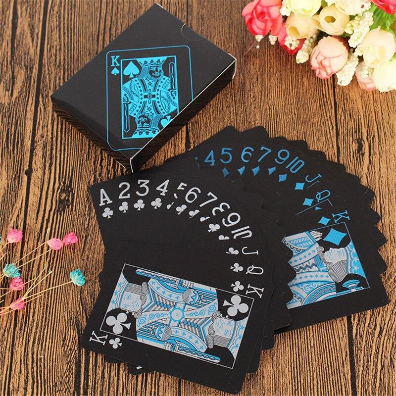1 Set Di Carte Da Gioco Di Plastica Impermeabile Glassa Di Carte Da Poker Pokerstar Gioco Da Tavolo Regalo Caldo Standard Del Partito Carte Da Gioco Set Guidare Un Commercio Ruggente