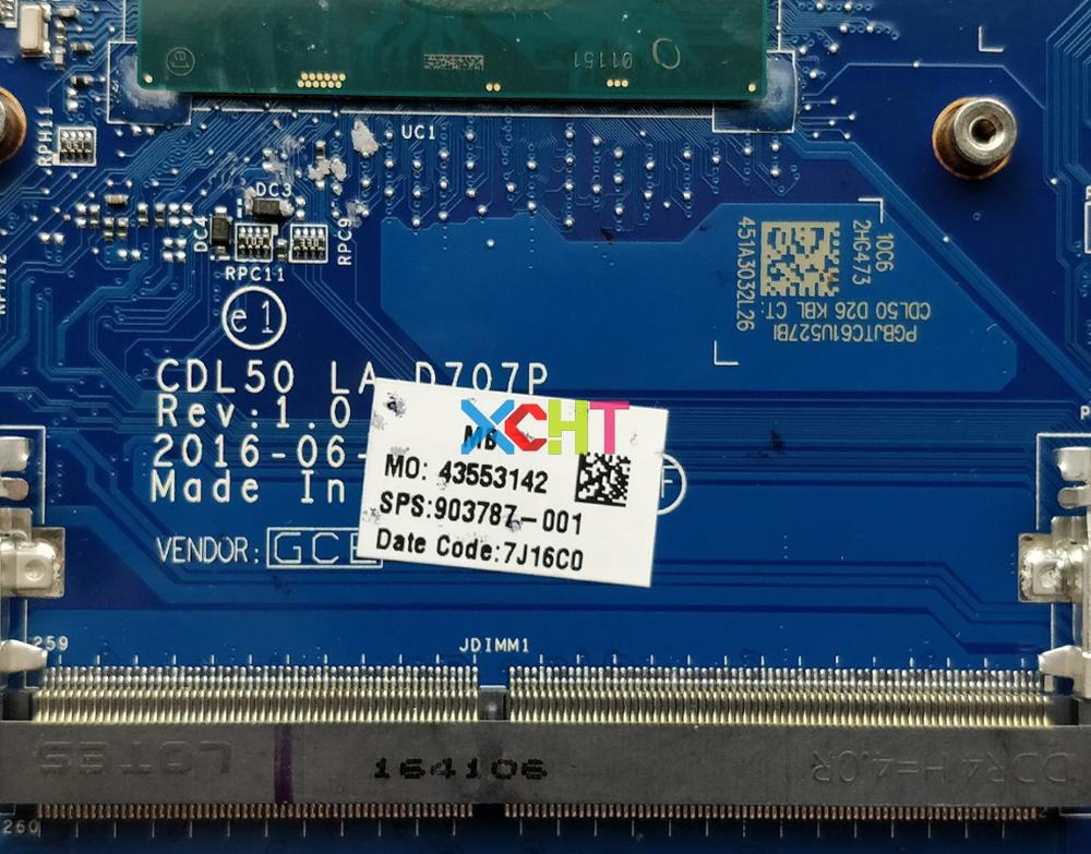 Image 3 - for HP Notebook 15 ay124TX 15 AY Series 903787 001 903787 601 w i7 7500U CPU R7M1 70/2GB CDL50 LA D707P Motherboard Tested-in Laptop Motherboard from Computer & Office