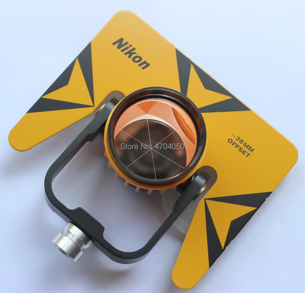 Brand New Yellow Single Prism reflector set with soft bag for Pentax Nikon Topcon total station