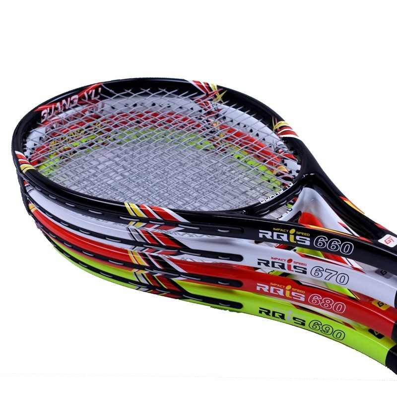Carbon Fiber Tennis Racket Quality Novice Beginner Training Tennis Shot Stable Damping Single Racquet With Strings Q1316CME