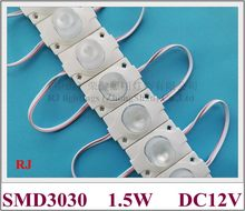 LED module with lens for lighting box DC12V 45mm*30mm beam angle vertically 15 horizontally 45 SMD 3030 1.5W LED light module