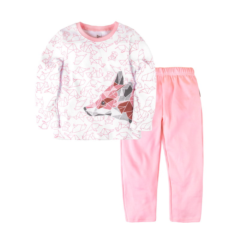 Pajama set shirt+pants for girls BOSSA NOVA 362o-371r pajama pants and jumper friends 3 8g 95% cotton 5% elastane