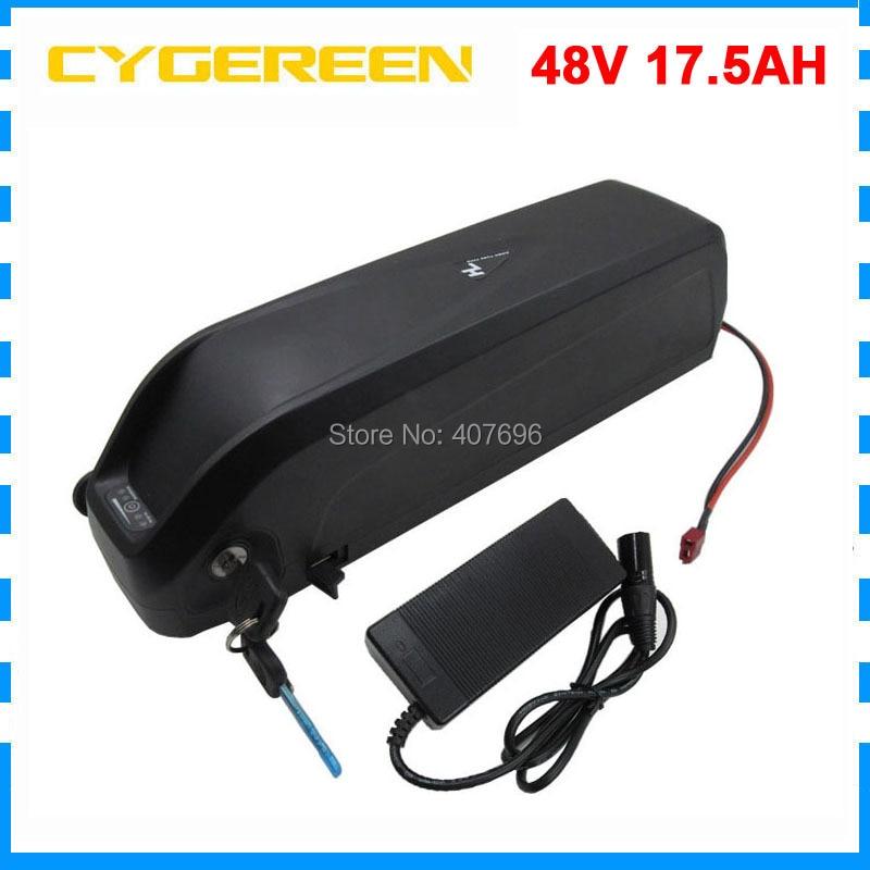 Unterrohr Hailong 48V 17.5Ah ebike Batterie 1000W 48V 18AH Lithiumbatterie mit BMS USB Port Gebrauch für Samsung 3500mah Zellen