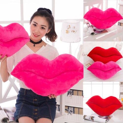 Soft Cushion Lip Shaped Plush Toy Throw Pillow DIY Car Sofa Chair Decorations Sofa Decorative Cushion Gift For Girl