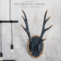 Wall hooks for hanging Clothes coats wall stand keys hanger Resin Antlers wall hooks home decorations for wall