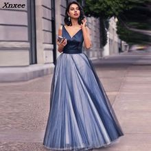 Party Daily Dress V-Neck Beads Bodice Open Back A Line Long Elegant Shippin Drop Shipping Xnxee