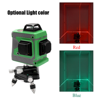 3D Laser Level 360 Laser Levels 12 Lines Blue Green Laser Level Instrument Scanister Kit With Tripod Power Adapter Storage Bag