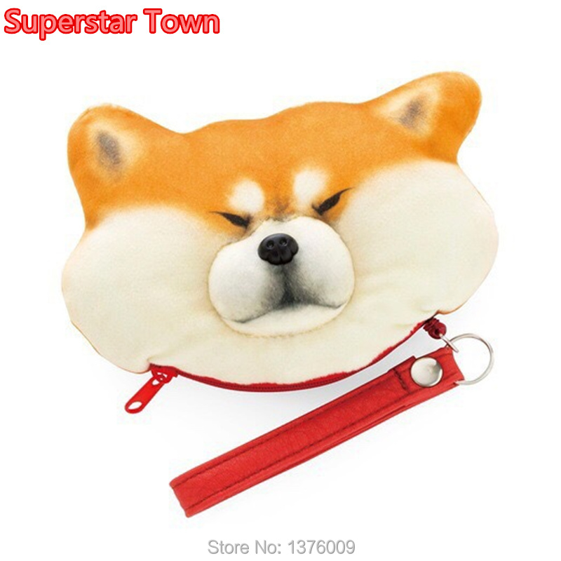 Shiba Inu Plush Coin Purse Cute Girls Bag Cartoon Cosplay Coin Wallet Kawaii Funny Doge Harajuku Unisex Gift Toys Bag