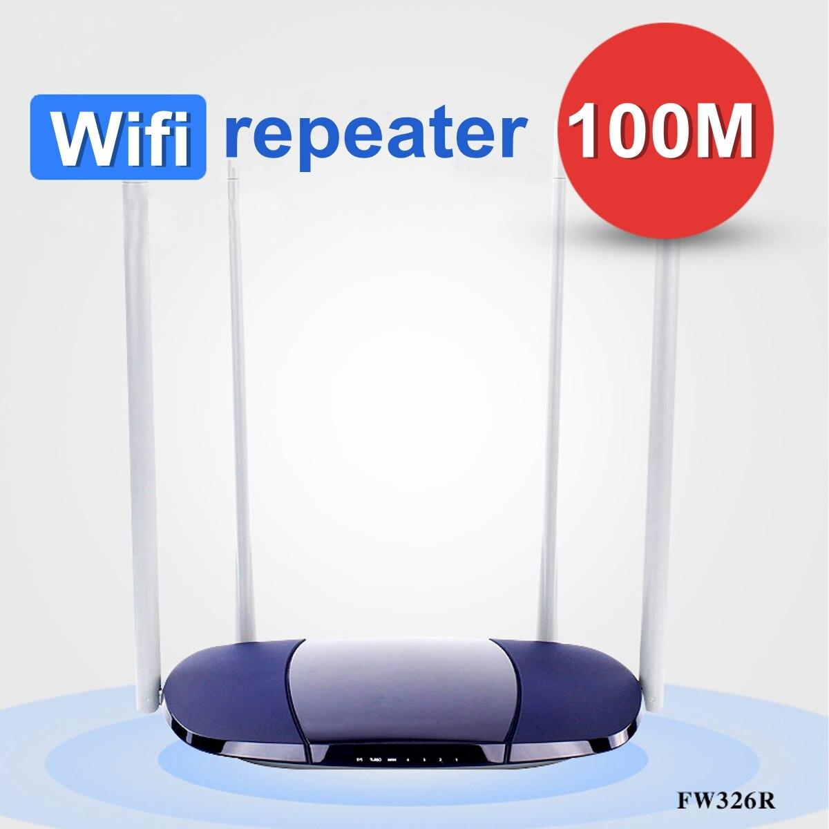 Hardwerkend Wifi Repeater Hoge Snelheid 100 M Fiber 300 Mbps Draadloze Wifi Router Een-klik Enhancement Wifi High Gain 4 Antenne Hoge Veerkracht