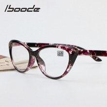 Iboode ретро цветочные очки для чтения «кошачий глаз», ультралегкие очки при дальнозоркости для мужчин и женщин + 1,25 1,5 1,75 2,0 2,25 2,5 2,75 3,0 3,5 4,0
