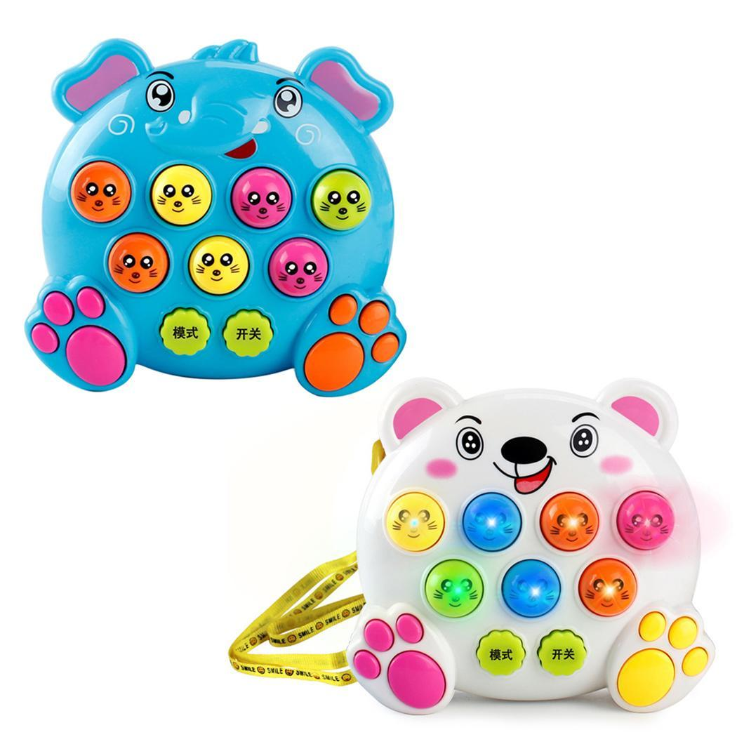 Baby Electronic Multifunctional Mole Percussion Handheld Hammer Educational Toy Game Hamster Learning 2 4 Years