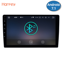 Harfey Универсальный 2din 9 головное устройство Android 7,1 gps радио для Honda Civic CRV TOYOTA RAV4 corolla QASHQAI Kia sportage Rio Nissan