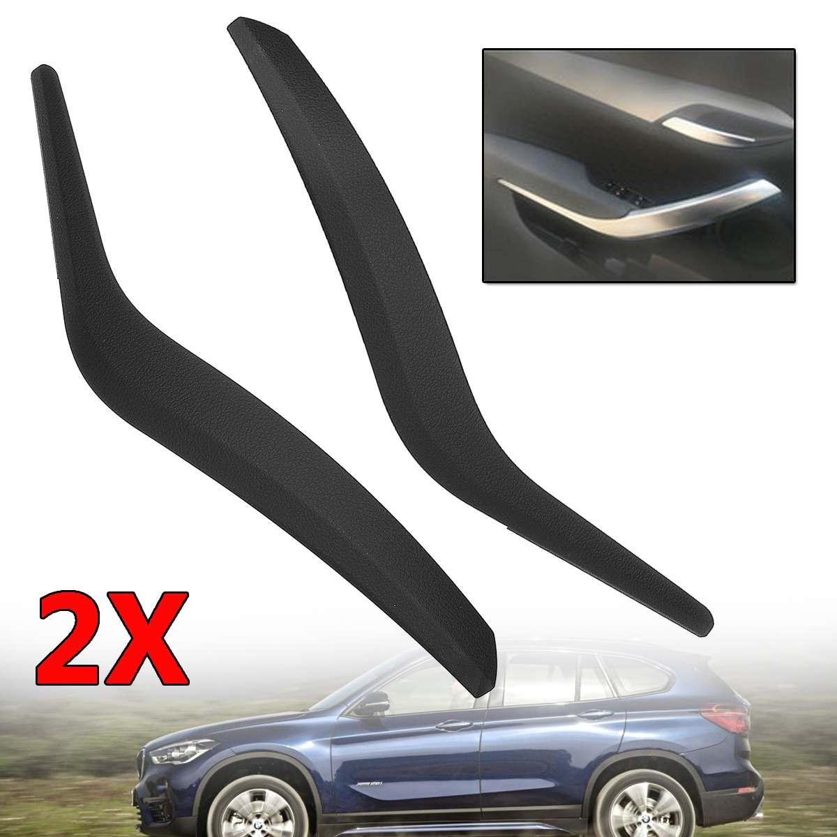 Poignées de carte de porte intérieure avant/arrière gauche/droite de voiture noire poignées de porte de traction en plastique pour BMW X1 E84 2010-16