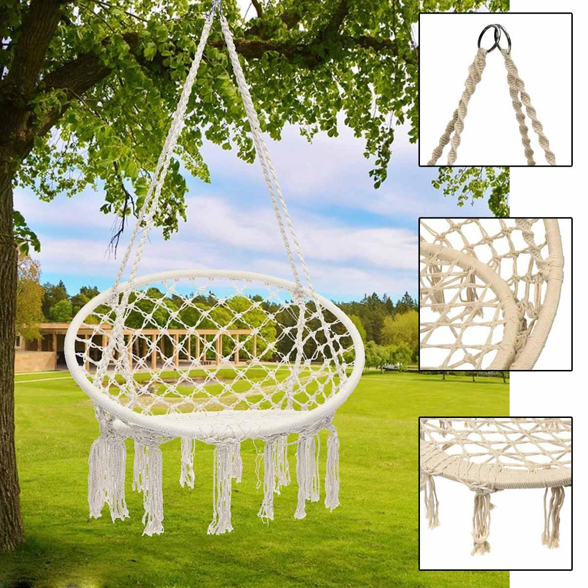 Chaise d'oscillation de meubles de hamac de Style nordique pour le hamac d'intérieur extérieur pour le dortoir de jardin chaise accrochante adulte d'enfant