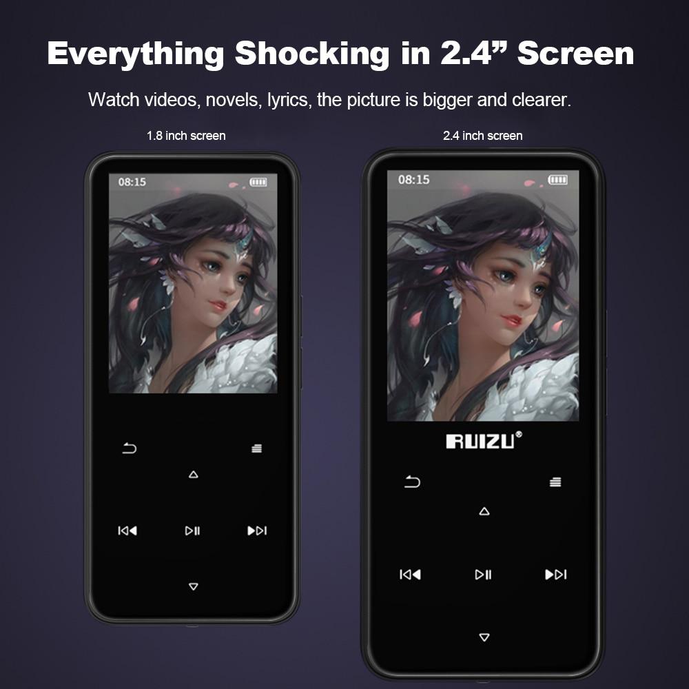 RUIZU D10 BT 8GB MP3 MP4 Music Video Player Lossless TF Recorder FM Radio
