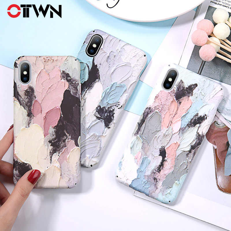 9520c8dd82 Ottwn Dye Luminous Case For iPhone XS Max XR 7 8 Plus Graffiti Hard PC Phone