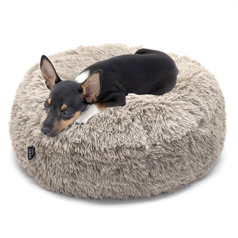 Fijn Fml Huisdier Sofa Warme Fleece Hond Bed Ronde Wasbare Huisdier Lounger Kussen Voor Kleine Medium Grote Honden & Katten Kennels Voor Joint-relief