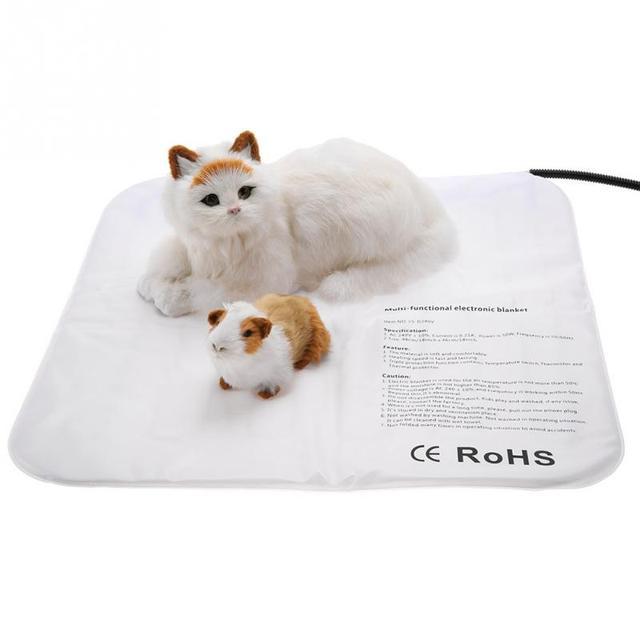 Pet Heating Pad Large Dog Cat Electric Outdoor Indoor Waterproof Adjule Warming Mat