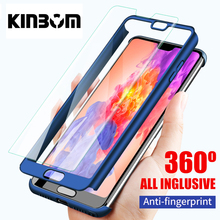 KINBOM For Huawei P20pro Nova 2s 3 4 360 Full Protection Phone Case For Honor 9i 10 V9 V10 Mate 10 20 Armor Cover Lite 360 Case стоимость