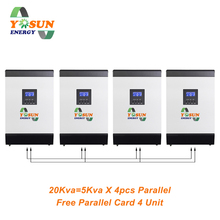 60A MPPT Solar Inverter 230Vac Pure Sine Wave 48Vdc Battery Free Parallel Card Off-Grid Solar System AC Charger
