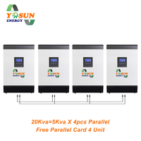 60A MPPT Solar Inverter 230Vac Pure Sine Wave 48Vdc Battery Free Parallel Card Off Grid Solar System AC Charger