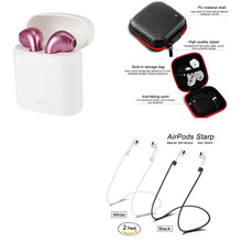 i7S Tws Wireless Earphones Bluetooth Headset Earpieces Earbuds Twins charging box storage bag for iPhone Samsung iphone Smart new hot hbq i7s tws earbuds ture wireless bluetooth double earphones twins earpieces stereo music headset for iphone 8 plus