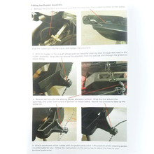 1 шт регулируемый нейлоновый руль Каяка с системой рулевого управления-черный