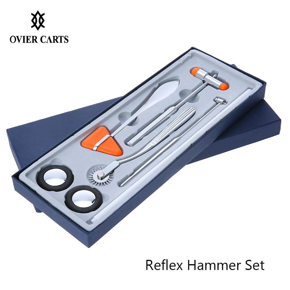 5Pcs Percussion Hammer Multifunctional Percussor Diagnostic Reflex Percussion Hammer Set Medical Neurological Massage Hammer Kit