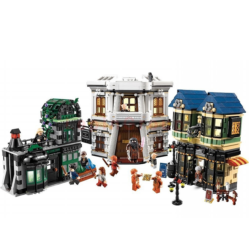 L'allée de diagon legoing harry potter 16012 série de films du MOC ensemble de blocs de construction de potier briques legoings harry potter 10217