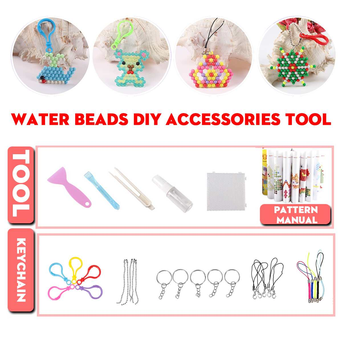 1 Set Aquas DIY Beads Making Tool + 2400Pcs Multicolor Magic Puzzle Toys Water Sticky Beads Educational Toys Kids Child Gifts