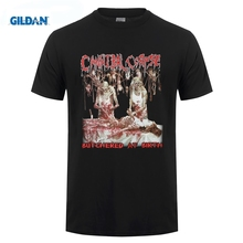 GILDAN CANNIBAL CORPSE BUTCHERED AT BIRTH 1991 DEATH METAL GRINDCORE NEW BLACK T-SHIRT Short Sleeve Casual Printed  T Shirt