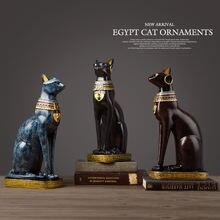 Египетский кот смола ремесло винтажный домашний декор современный