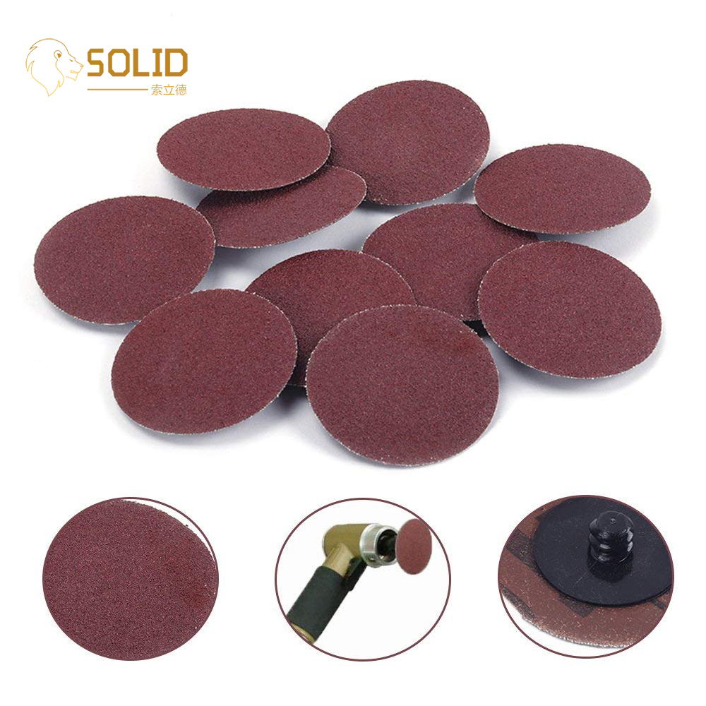"Sanding Disc Pad 2"" 24~320# Roll Lock Sanding Discs R-Type Roloc Disc For Metal Wood Polishing Abrasive Sanding Disc 10Pcs/50Pc"