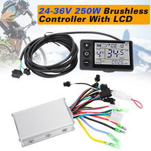 New 24V-48V 350W Brushless Motor Controller unit for Scooter E-Bike Motor with LCD Motor Controller(China)