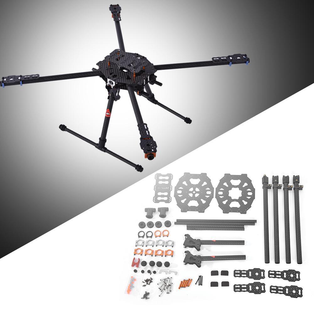 For Tarot 4 Axle Iron Man 650 Foldable 3K Carbon Fiber Quad Drone Copter Quadcopter Frame