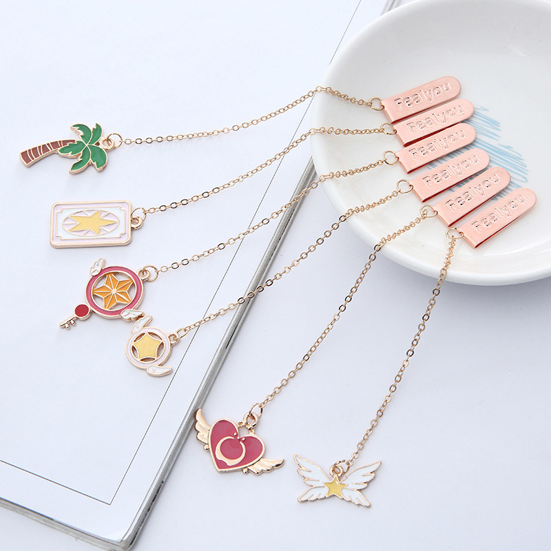 1PC Cute Rabbit Bookmarks Kawaii Pendant Book Markers Metal Bookmarks For Girls Gifts School Office Supplies Creative Stationery
