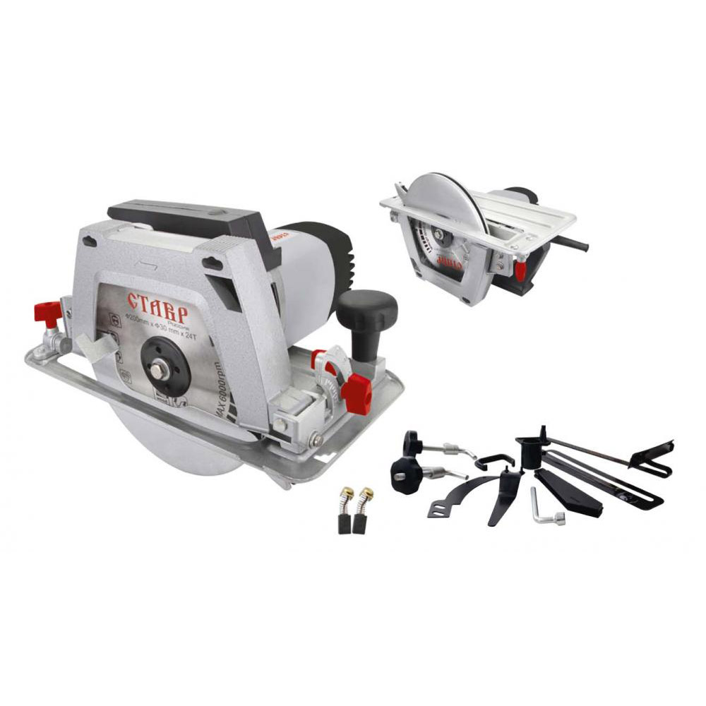 Circular saw Stavr PDE-200/1900 ST kalibr epd 2100 200 st electric circular saw for wood with a blade tool circle saw
