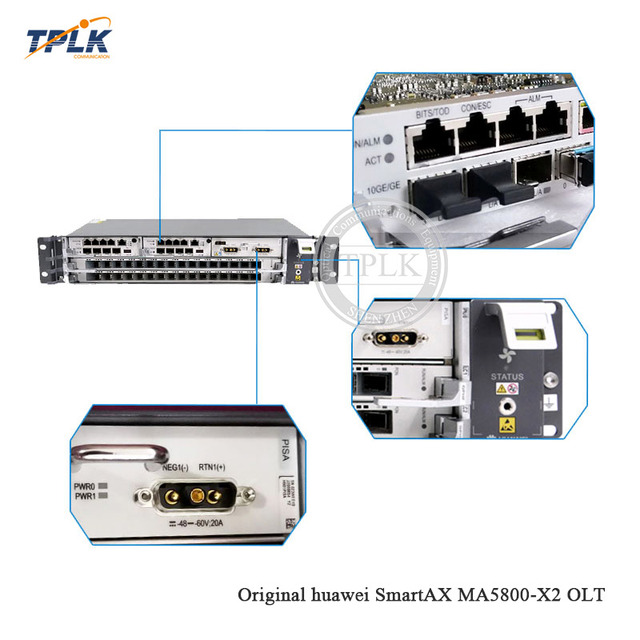 HW MA5800-X2 OLT Achieve 16-port 10G GPON access , with 2* MPSC(4*10G)+1*PISB DC, Support vMOS video and distributed caching