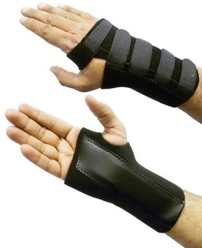 Sports Useful Splint Sprains Arthritis Band Belt Carpal Tunnel Hand wristband support Brace Solid Black Dropshipping