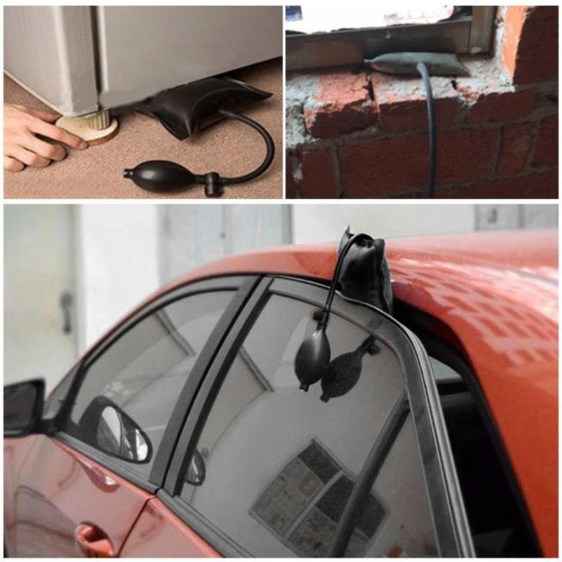 Airbag Cushioned Hand Pump Auto Repair Car Window Door Key Lost Air Wedge Airbag Lock Out Emergency Open Unlock Pad Tool Kit
