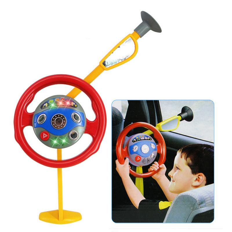 Simulated Steering Wheel With Light And Music Children Pretend Driver Toy Early Educational Toy For Kids Gift