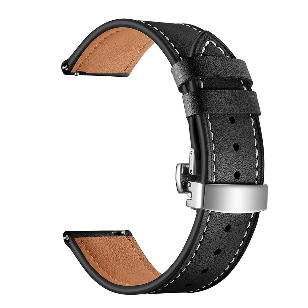 Image 3 - Smart Sports Watch With Strap Leather Watch Strap Watch GT Butterfly Buckle Leather Watch Band 22MM Classic And Stylish-in Smart Accessories from Consumer Electronics